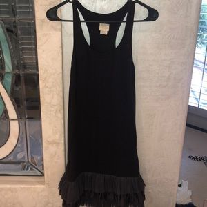 Free people black dress with ruffles